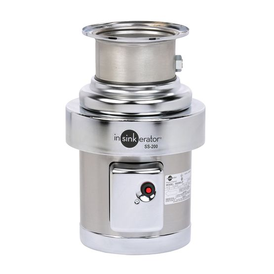 INSINKERATOR SS-200 2HP COMMERCIAL BASE DISPOSER 115/208/230V 1PH INCLUDES MOUNTING GASKET