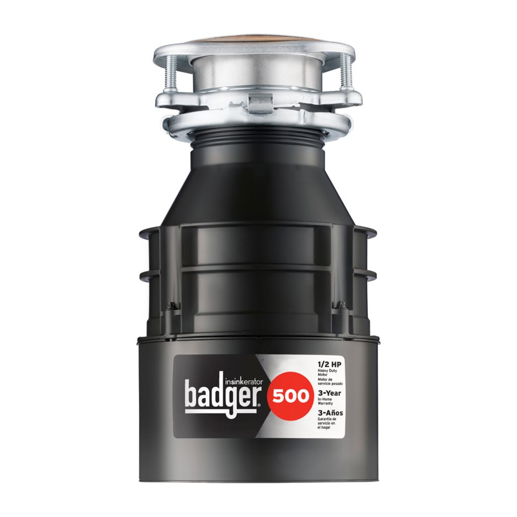 Badger 500 Garbage Disposal, 1/2 HP|InSinkErator|Emerson